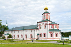 Refektarza kościół objawienie pańskie w Valday Iversky monasterze, Rosja Zdjęcie Royalty Free