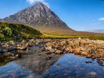 Refelctions of Buachaille Etive Mor Royalty Free Stock Photos