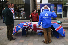 Referência de Indy de 2014 Scottish nenhuma campanha Fotografia de Stock Royalty Free