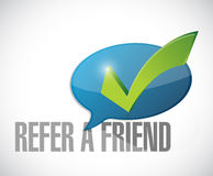 Refer a friend approval message sign illustration Stock Image