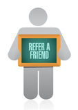 Refer a friend avatar sign concept Royalty Free Stock Images