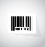 Refer a friend barcode sign concept Stock Image