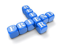 Refer Friend - Block Letters (clipping path included) Stock Image