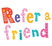 Refer a friend stock illustration