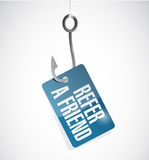 Refer a friend fish hook sign concept. Illustration design Royalty Free Stock Photos