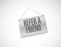 Refer a friend hanging sign concept Stock Image