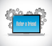 Refer a friend industrial tech sign concept Royalty Free Stock Photography