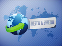 Refer a friend international sign concept Royalty Free Stock Images