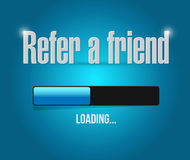 Refer a friend loading bar sign concept Stock Photos