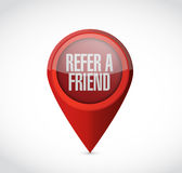 Refer a friend pointer sign concept Royalty Free Stock Photos