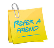 Refer a friend post memo sign concept Royalty Free Stock Photo