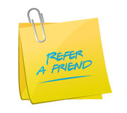 Refer a friend post message illustration design Royalty Free Stock Image