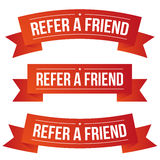 Refer a Friend ribbon Stock Image