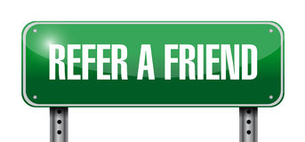 refer a friend road sign concept vector illustration