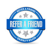 Refer a friend seal sign concept illustration Stock Images
