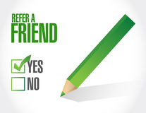 Refer a friend sign concept illustration Royalty Free Stock Images
