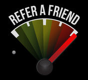 Refer a friend speedometer sign concept Stock Photo