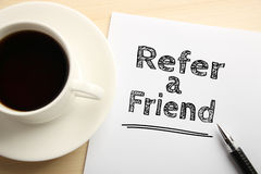Refer a friend Royalty Free Stock Photo