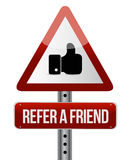 Refer a friend warning sign concept Royalty Free Stock Photography
