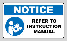 Refer to instruction manual booklet Royalty Free Stock Photography