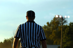 Referee 1. Referee stading on the field Royalty Free Stock Photography