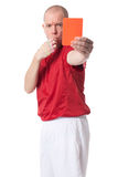 Referee. Full isolated studio picture from a young referee Royalty Free Stock Photos