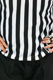 Referee in Black and White Royalty Free Stock Photography