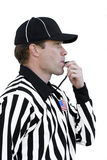 Referee Blowing The Whistle Royalty Free Stock Photography