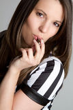 Referee Blowing Whistle Royalty Free Stock Photo