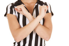 Referee body arms crossed Royalty Free Stock Image
