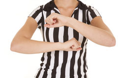 Referee body travelling Royalty Free Stock Photos