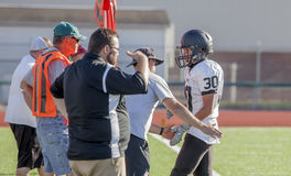 Referee Call At High School Football game  Stock Images