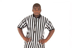 Referee calling football offsides or basketball bl Royalty Free Stock Photos