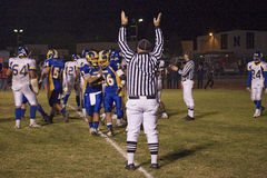 Referee calling touchdown Royalty Free Stock Photography