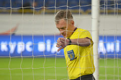 Referee checks the net Stock Images