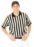 Referee: Cheerful Football Official Stock Image