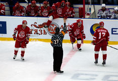 Referee D. Naumov (27) gesture Royalty Free Stock Image