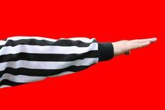 Referee decision - direction Stock Photo