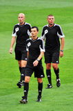 The referee on the field Stock Image