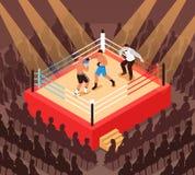 Boxing Isometric Illustration Royalty Free Stock Photography