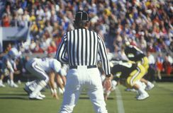 Referee at a football game Stock Images