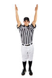 Referee: Football Official Signals a Touchdown Stock Images