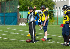 Referee gesture stock photos
