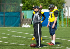 Referee gesture royalty free stock image