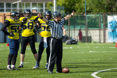 Referee gesture stock images