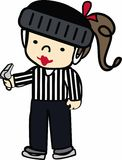 Referee Girl Royalty Free Stock Photography