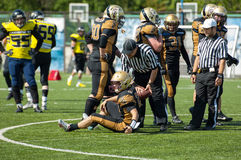 Referee help to stand up I. Goloveshkin (21) Royalty Free Stock Photos