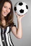 Referee Holding Ball Royalty Free Stock Photo