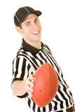 Referee: Holding Football Stock Photo