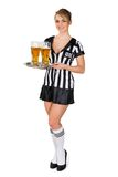 Referee Holding Tray With Beer Stock Photography
